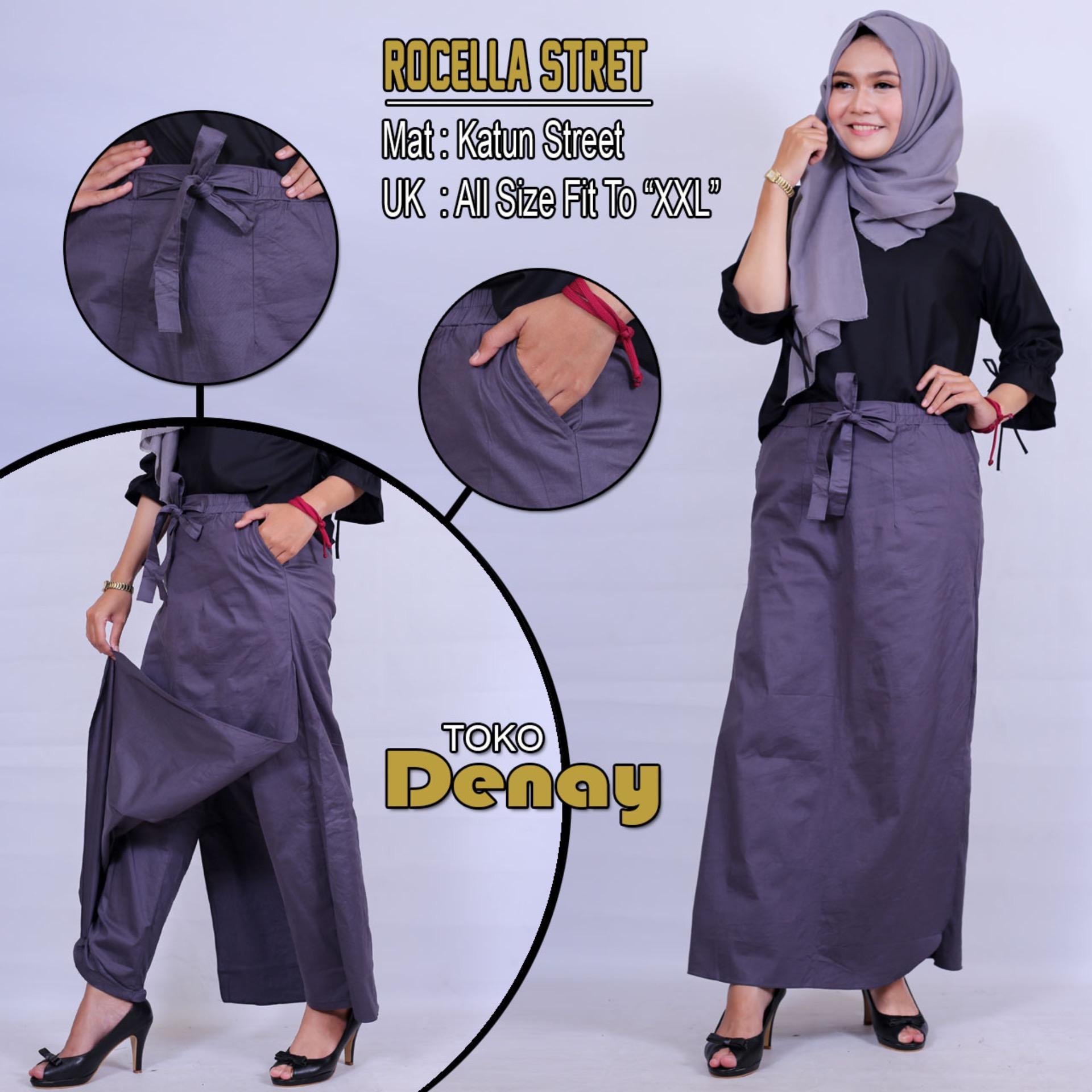 Rocella ( Rok Celana ) Bahan Katun Stret Ori By Tokodenay