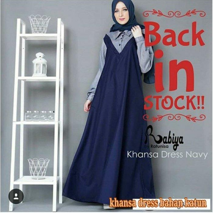 Diskon Produk Gamis Khanza Dress Simple Elegant