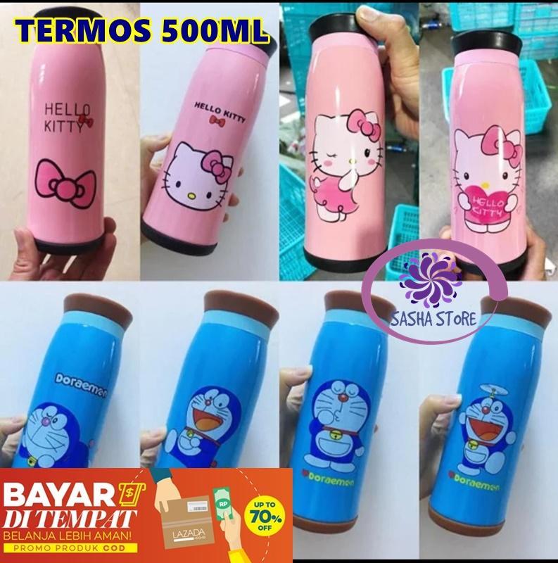 SS Botol Minum Termos Hello Kitty 500ml Termos Karakter / Termos Botol Minum / Termos Air