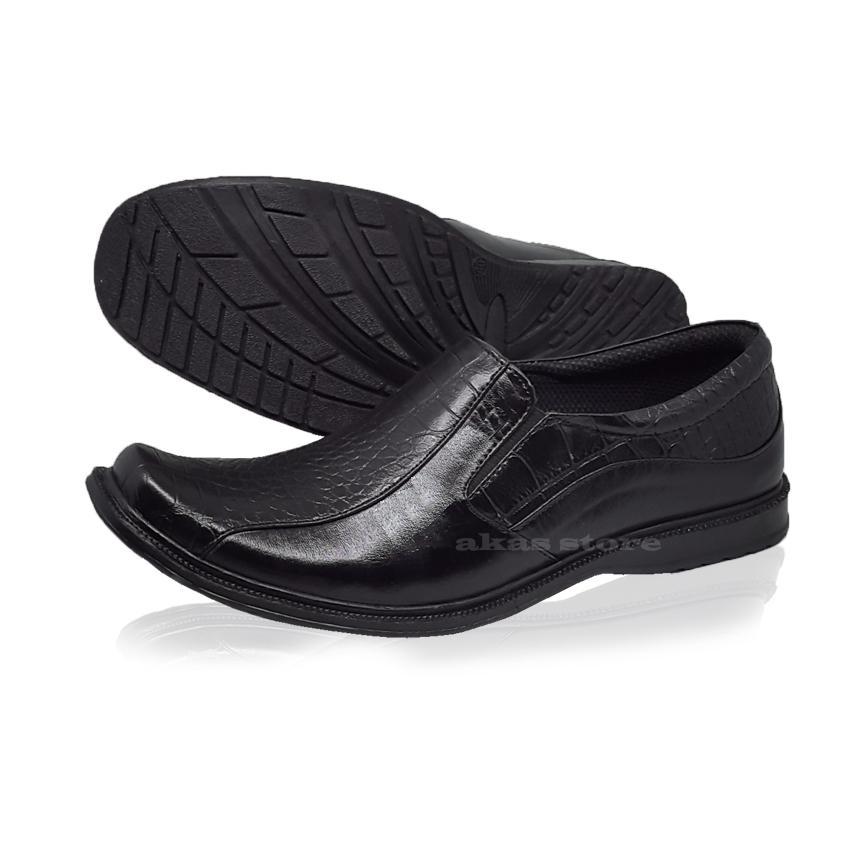 Sepatu Formal Sepatu Pantofel Sepatu Pria Sepatu Kerja Murah Berkualitas Motif Buaya sintetis