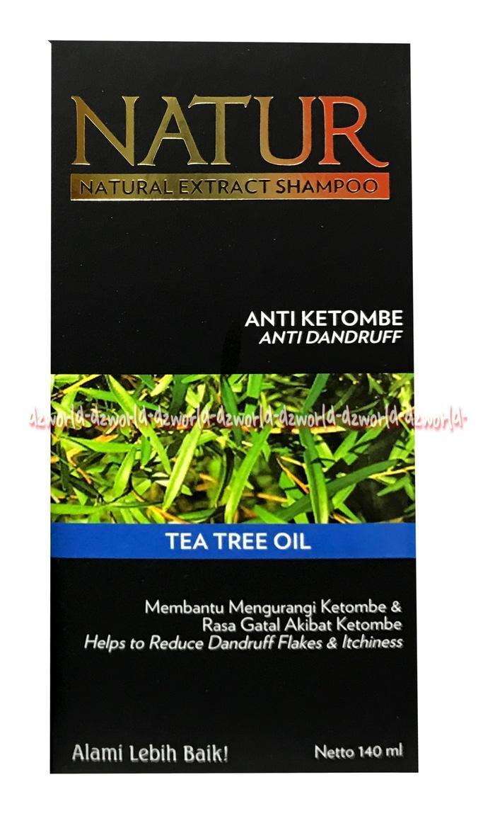 Natur Natural Shampoo Tea Tree Oil Shampo Untuk Mengurangi Ketombe