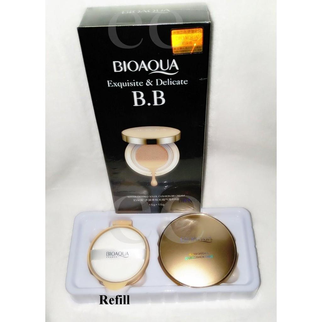 Bioaqua Exquisite And Delicate Bb Cream Air Cushion Pack Gold Case No 3 Dus Putih Laz Cod