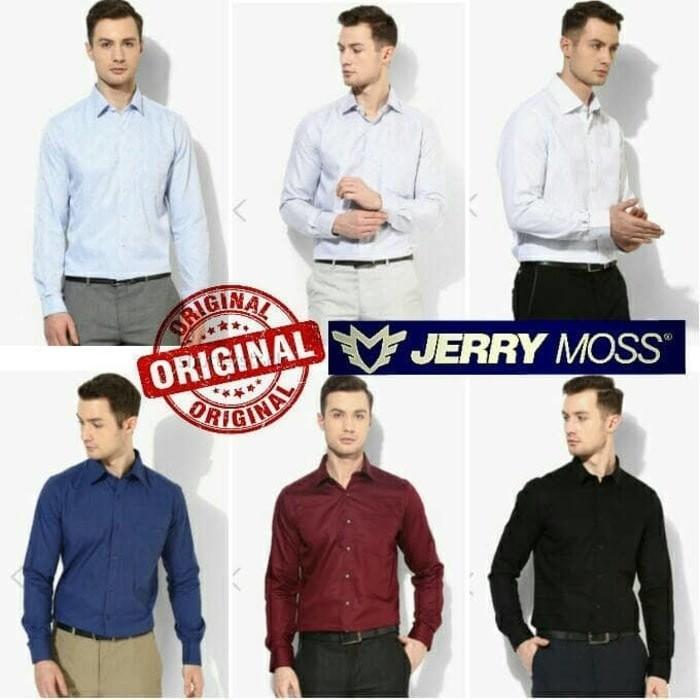 Kemeja Formal Kemeja Kantor Pria Original Jerry Moss Terlaris - Pkiyrf