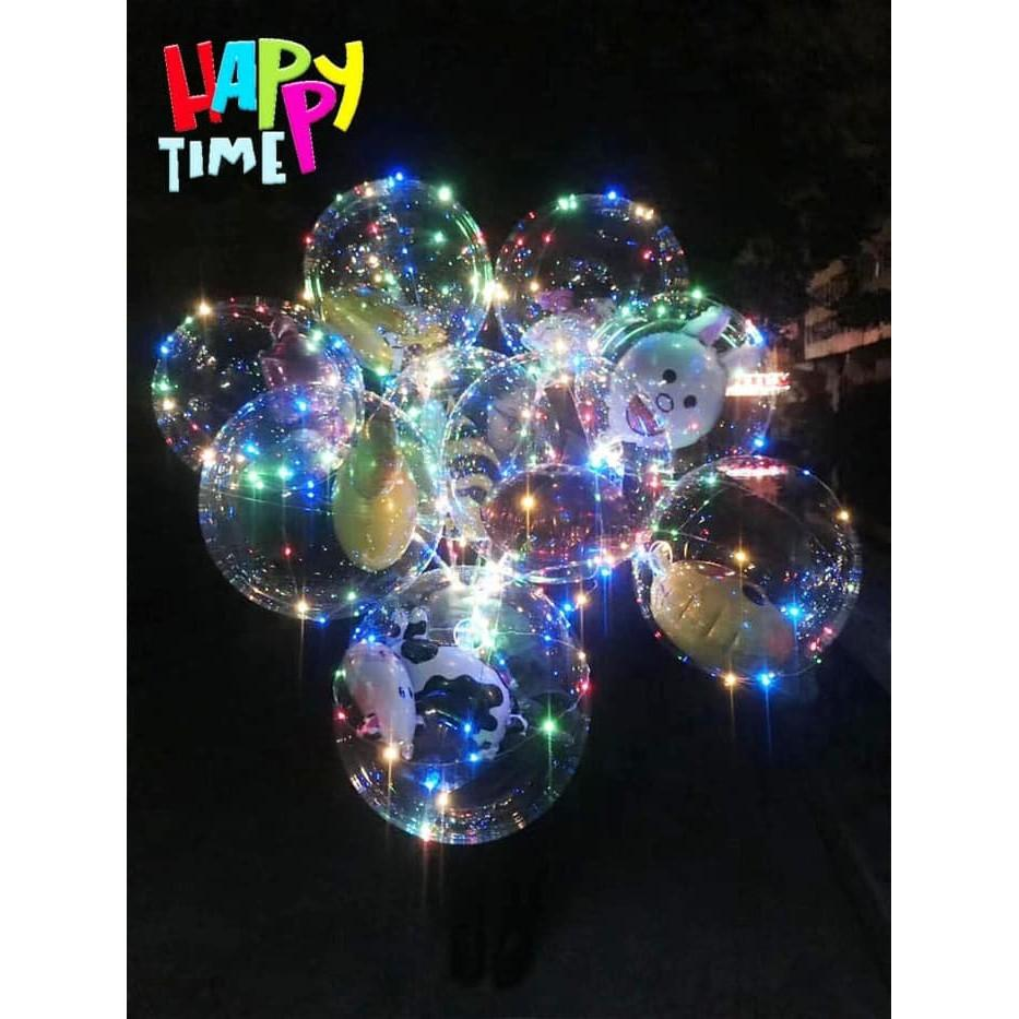 ... BOBO BALON ISI 1 PC BALON TRANSPARAN BALON LED BALON LAMPU TUMBLR BALON MURAH - 4