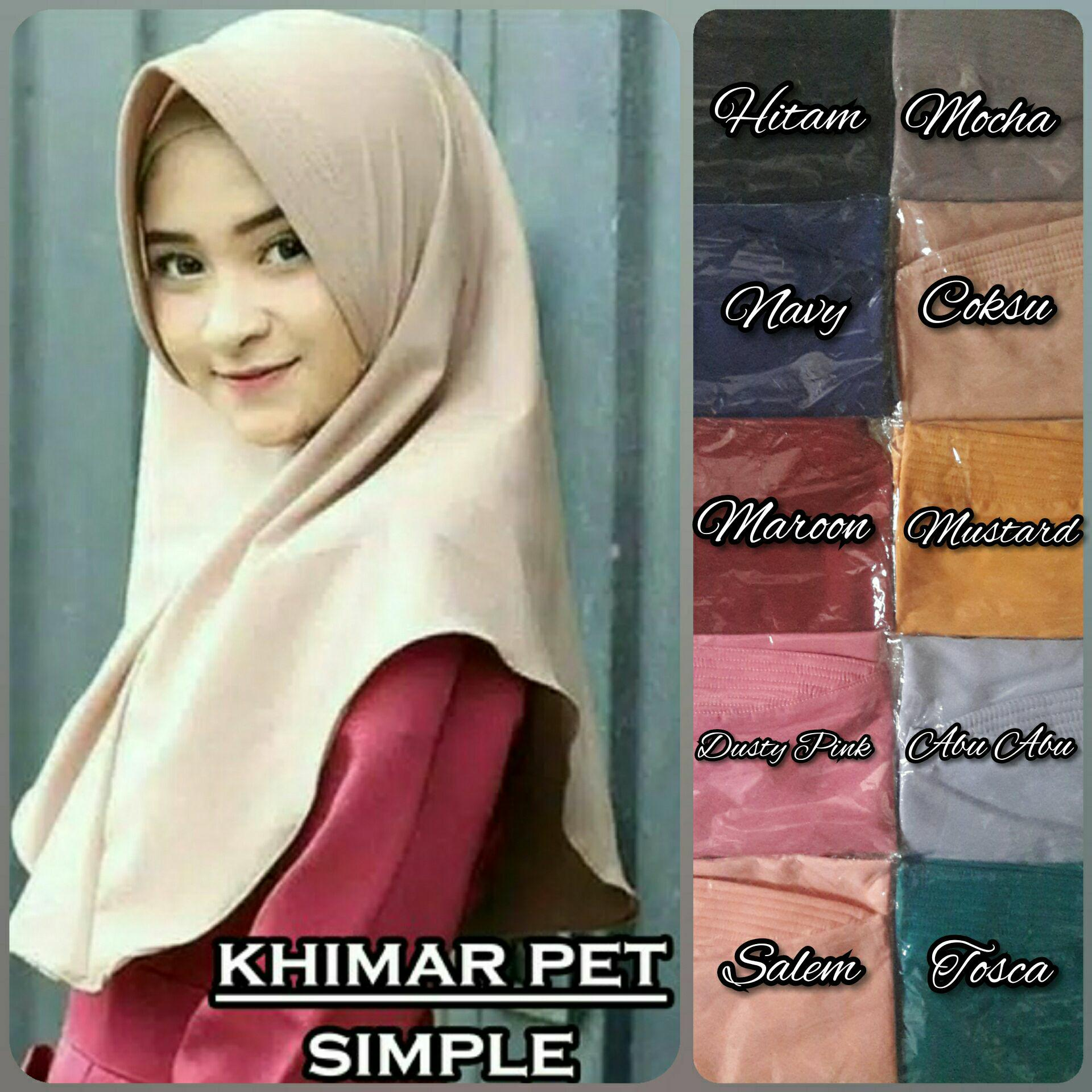 Hijab Instan Khimar Simple Pet