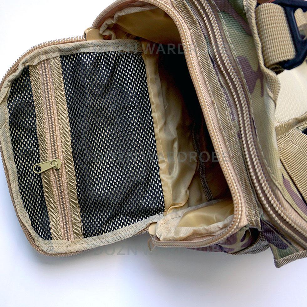 Detail Gambar Dozn Tas Selempang Sling Bag Army Bahan Kordura Double - Warna Khaki Terbaru