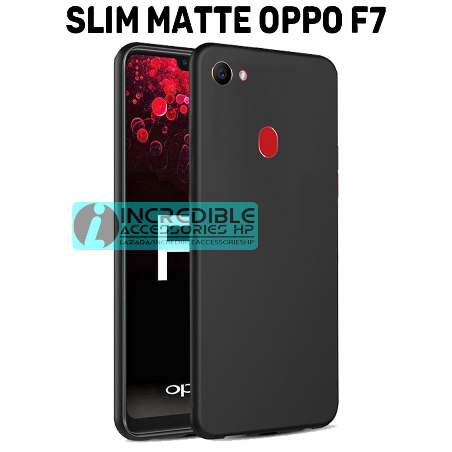 Case Slim Black Matte Baby Skin Softcase Premium Matte for Oppo F7 - Black