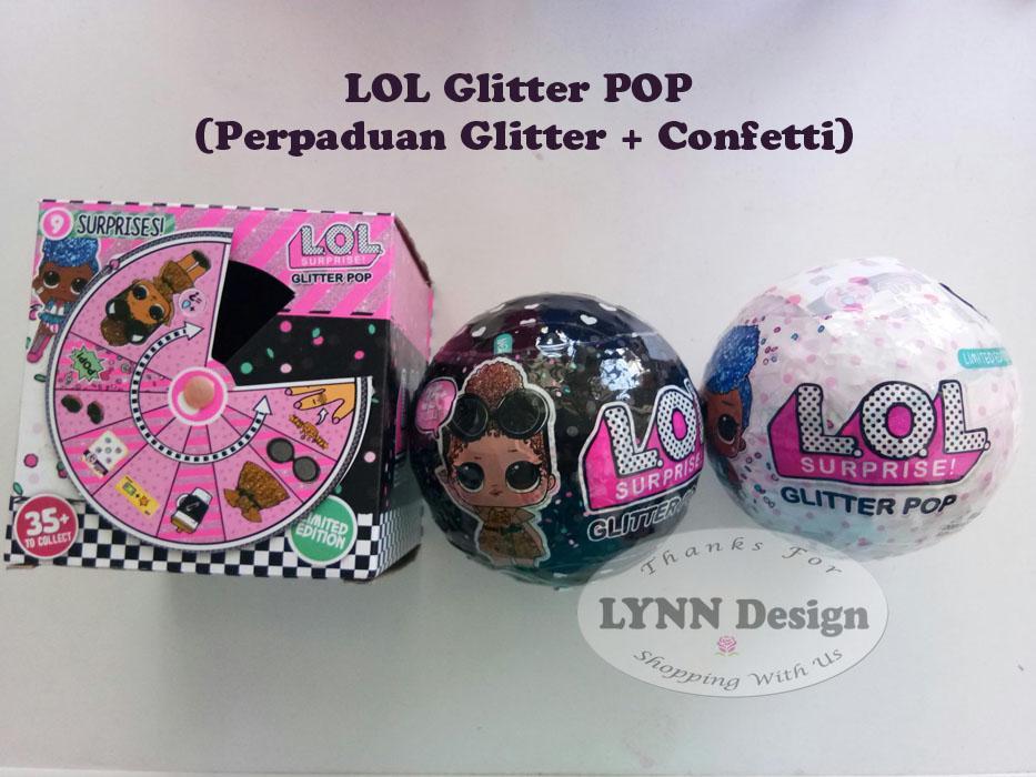lol gliiter pop 10 cm gillter + confetti _lynn design
