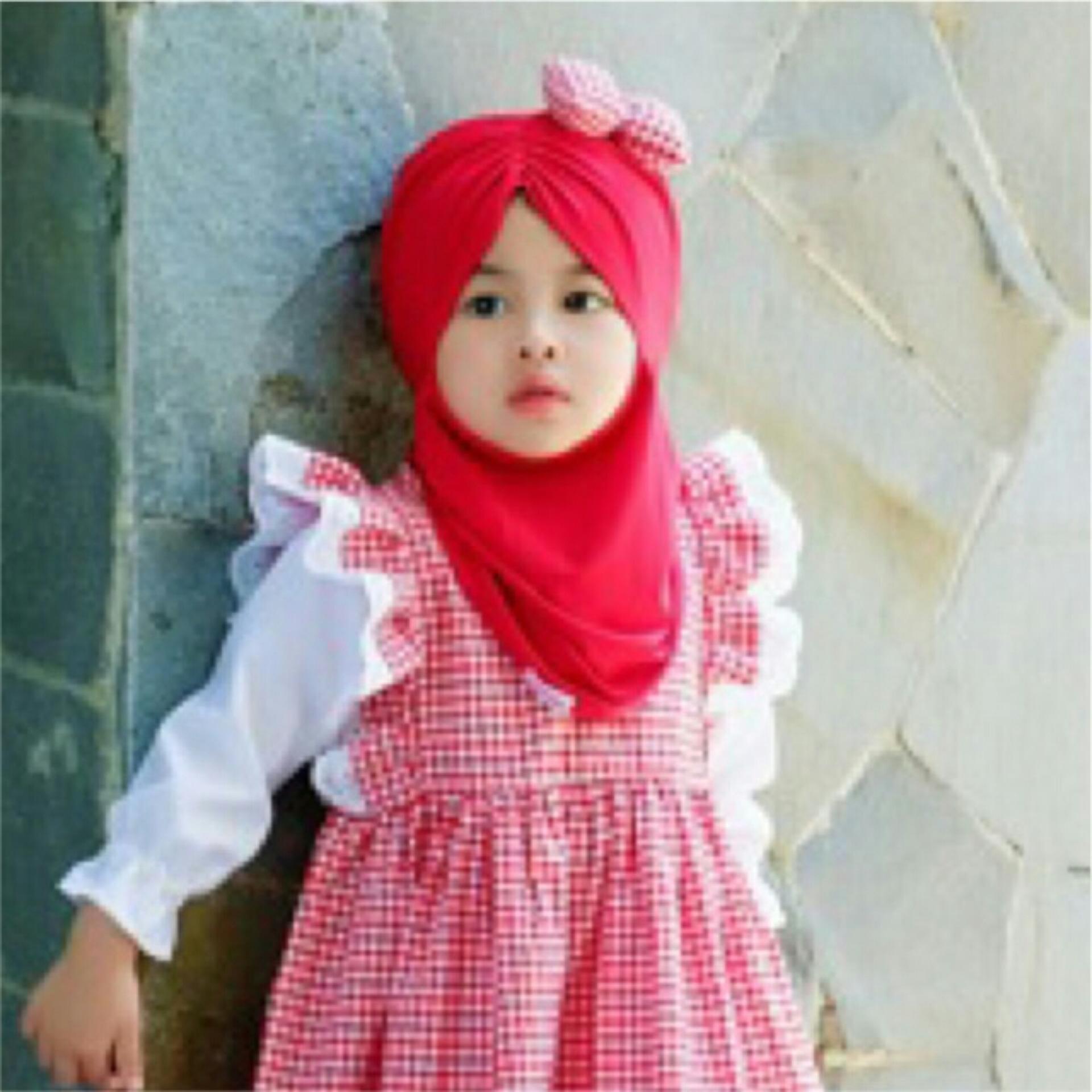 ... Hijab Pashmina Instan Anak. Source · Kerudung Anak Bayi /anak mini mouse samping polka / Jilbab Anak Bayi / Jilbab Bayi