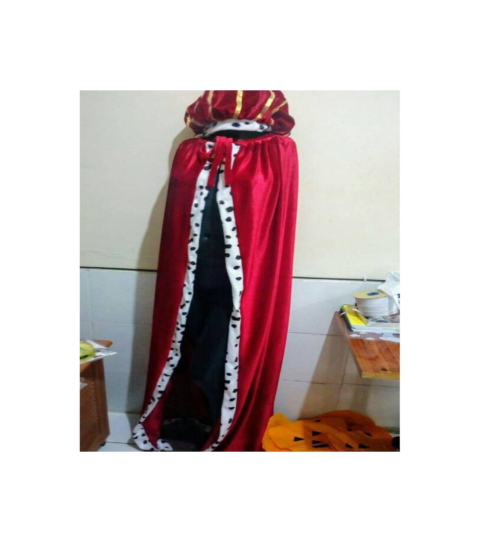 ... Baju kostum halloween costume jubah merah raja king cloak red velvet - 3