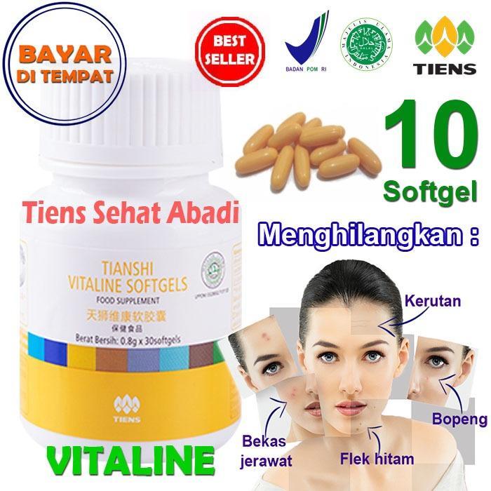 Promo Tiens Vitaline Vitamin E Pembersih Flek Dan Jerawat By Tiens Sehat Abadi Isi 10 Softgel Tiens