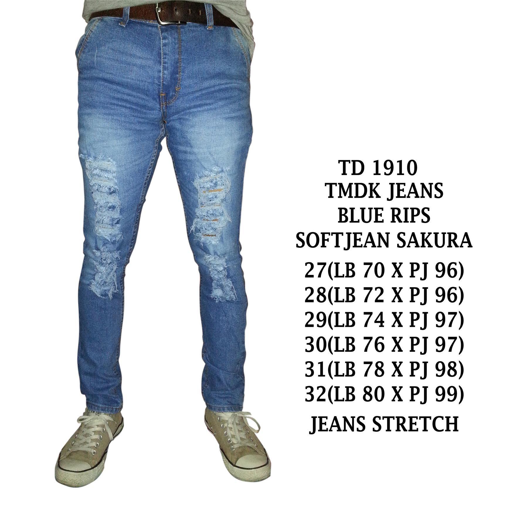 Harga Tmdk Fashion Celana Jeans Panjang Sobek Ripped Pria Murah Murah