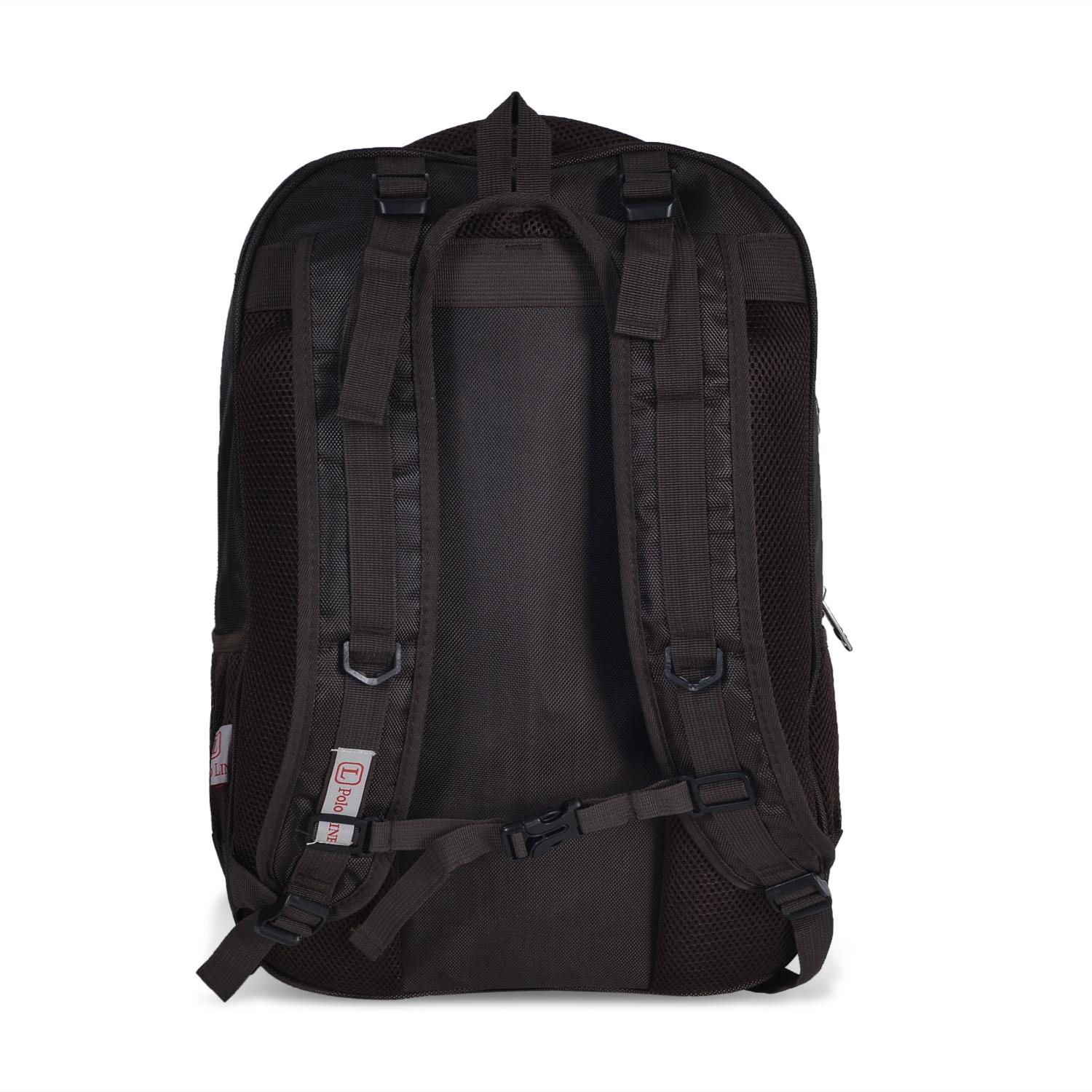 Polo Line Tas Ransel Pria Backpack Import Laptop Compartemen Cofee+ Raincover High Spec .