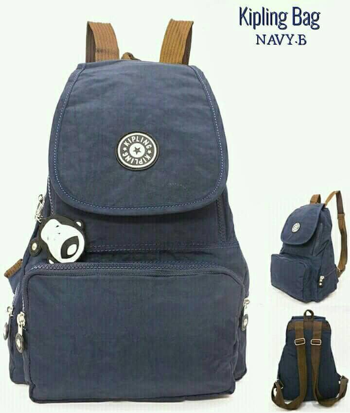 Promo Tas Kipling Ransel/Backpack Wanita Polos(4M0T5S4-IS)Matt Parachute Diskon - 3
