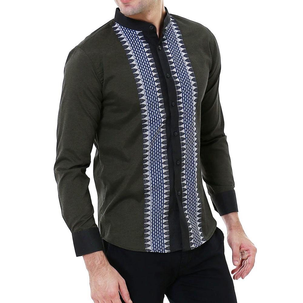 Spesifikasi Vm Kemeja Krah Koko Muslim Slimfit Tangan Panjang Baju Koko Muslim Krah Shanghai Lengkap Dengan Harga