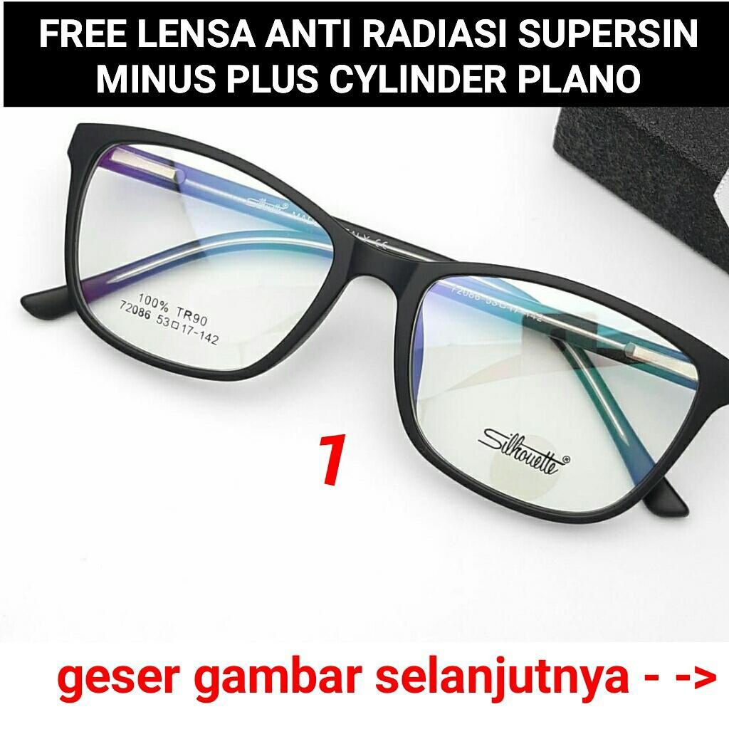 Frame Kacamata 72086 Kacamata baca kacamata bulat kacamata minus   plus   cylinder kacamata anti radiasi ccb9048326