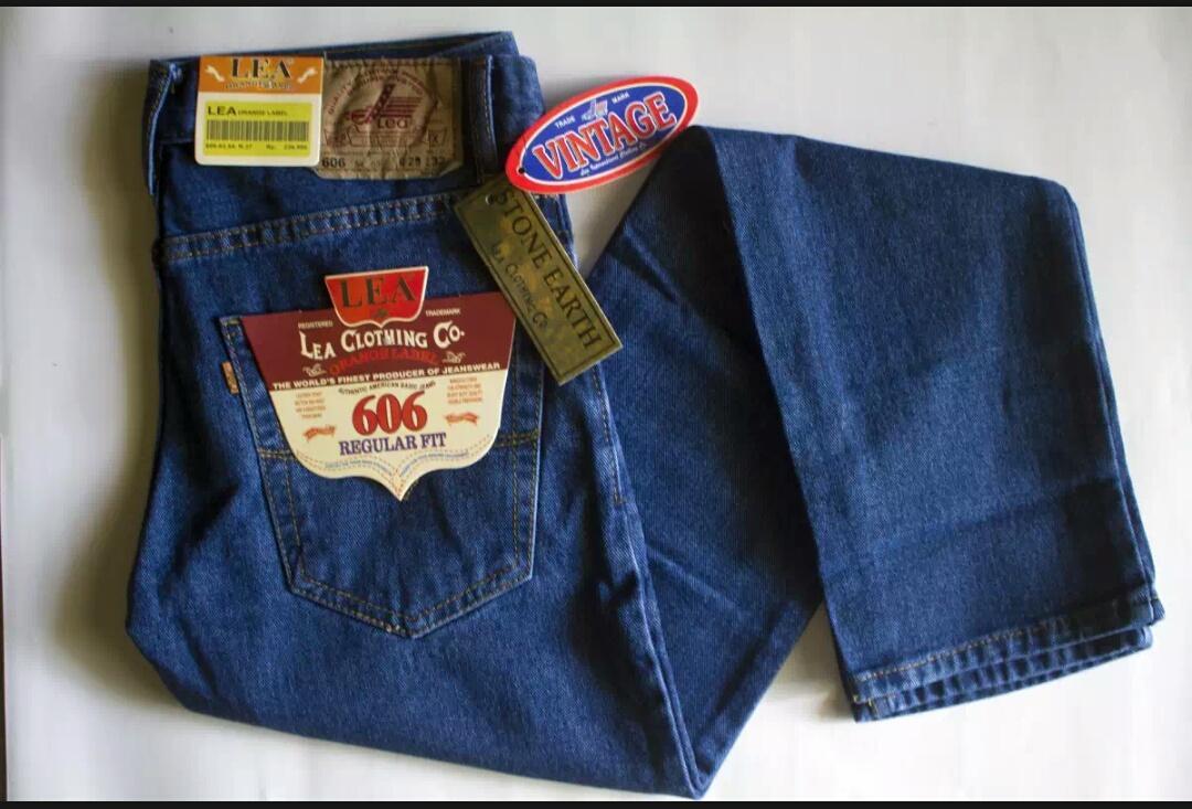 celana reguler jeans pria / celana jeans pria besar / celana jeans pria size 33 34
