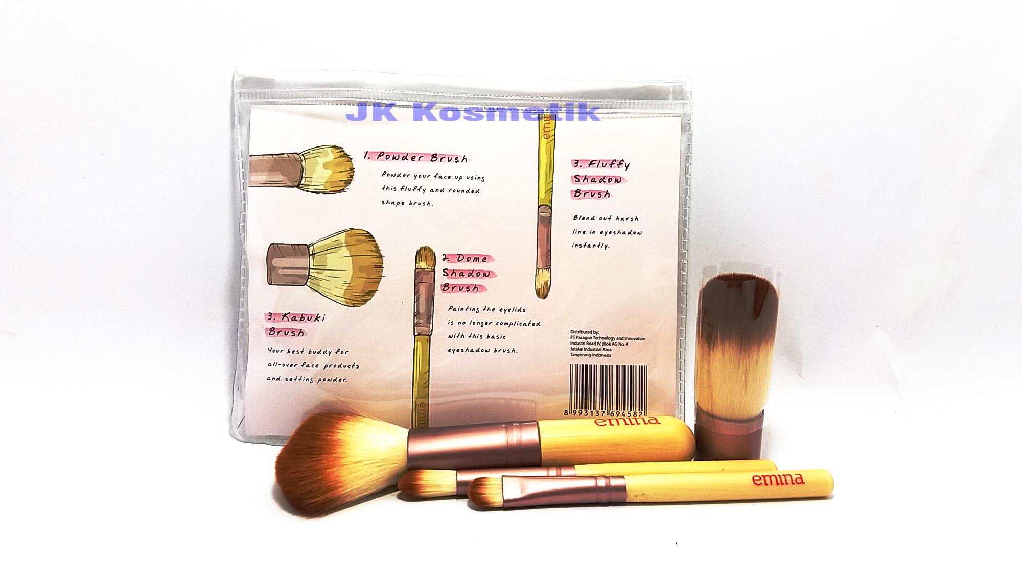 Fitur Emina Kuas Brush Set Isi 4 Dan Harga Terbaru Daftar Cosmetic Make Up 11 With Pouch Detail Gambar Terkini