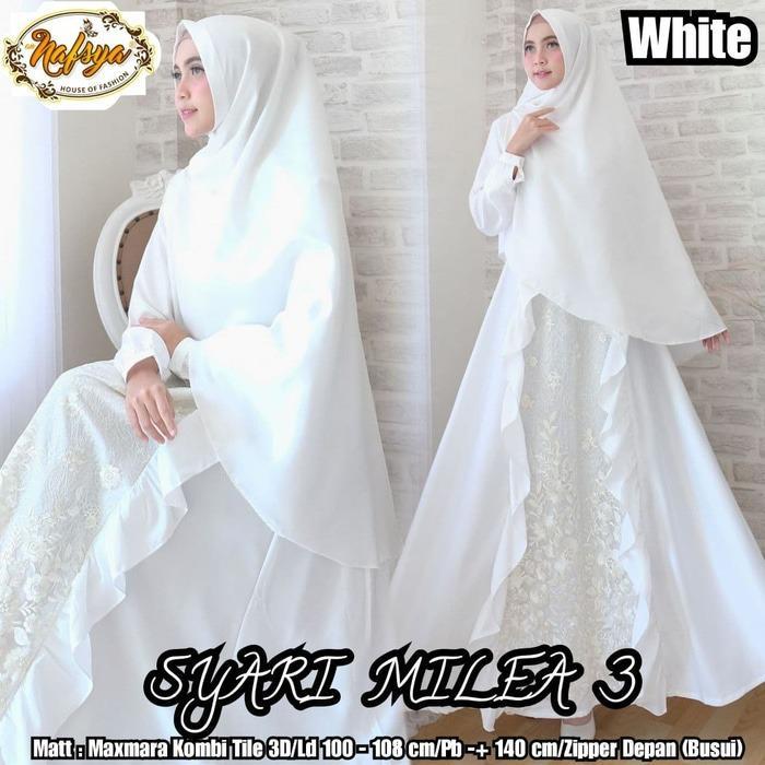 Beli Gamis Putih Syari Umroh Wn47 Gamis Polos Muslimah Kredit Jawa Barat