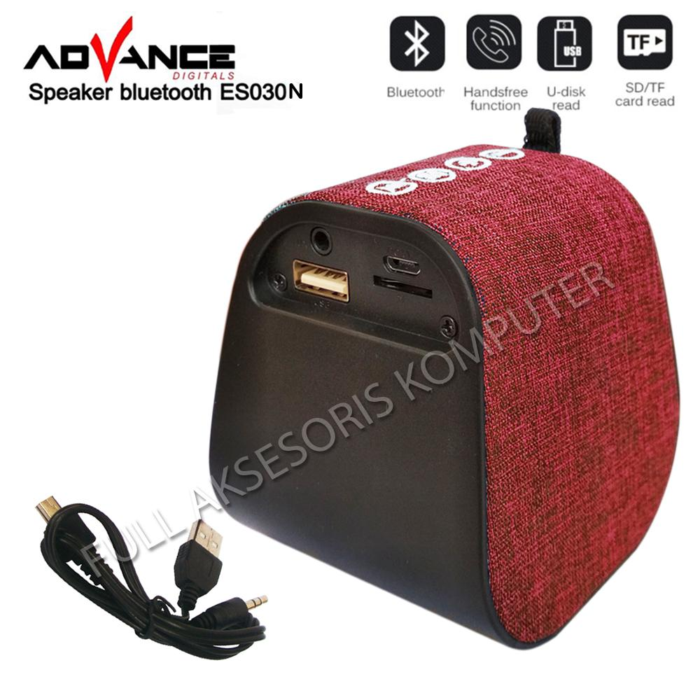 Review Advance Es030n Speaker Bluetooth Music Player Lapis Kain Broodis Kemeja Shirt  Best Seller Official Store Merah 2