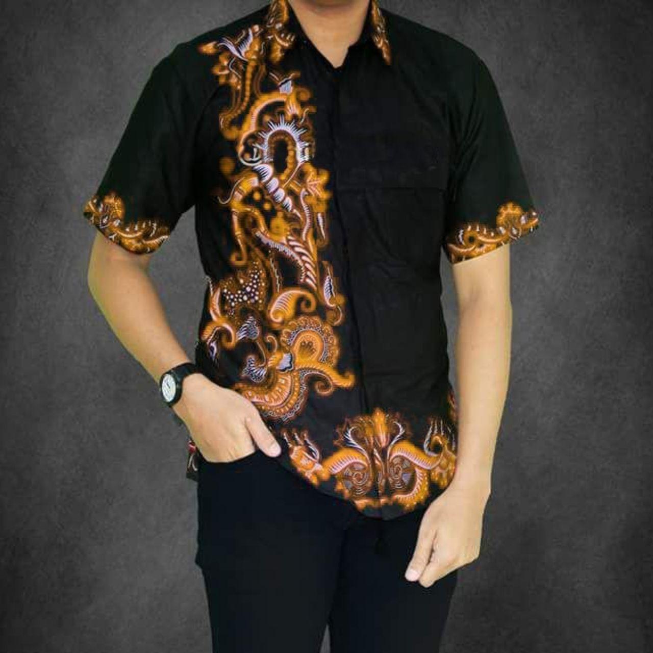 Cek Harga Baru Baju Kemeja Batik Pria Saloka Kuning Terkini Situs