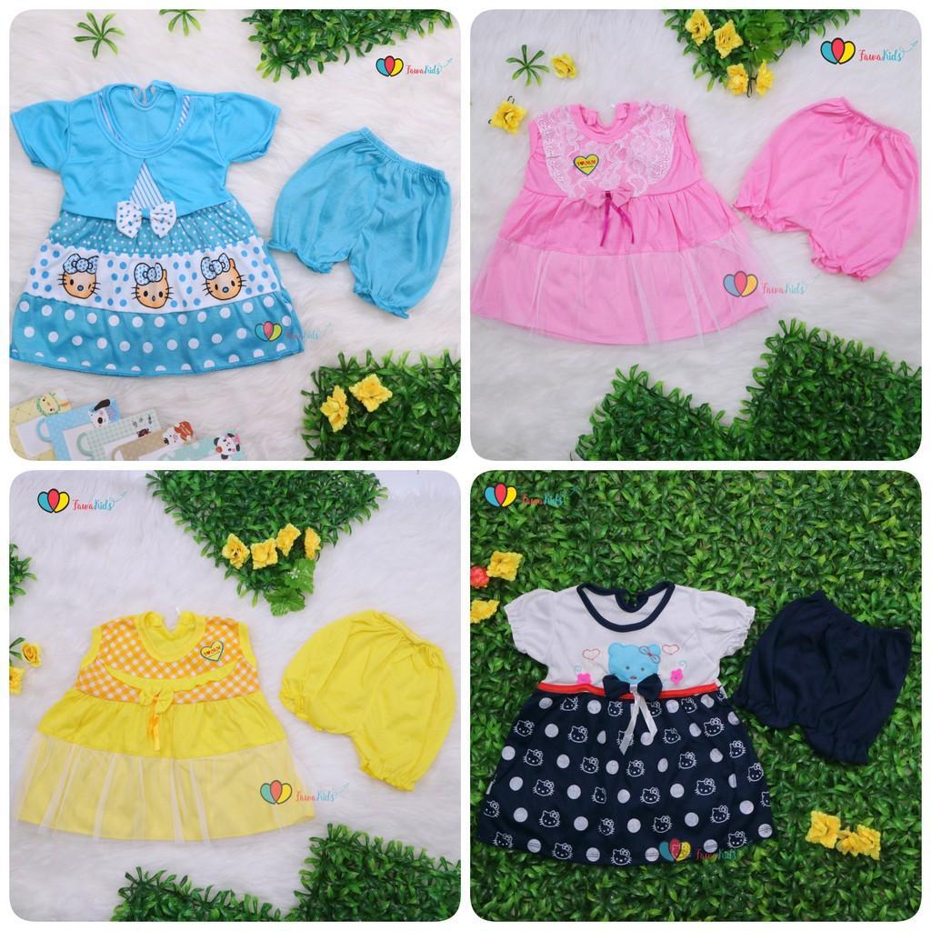 Baju Baby 0-12 Bulan / Setelan Bayi Perempuan Perlengkapan Baby Kado Murah Adem Celana