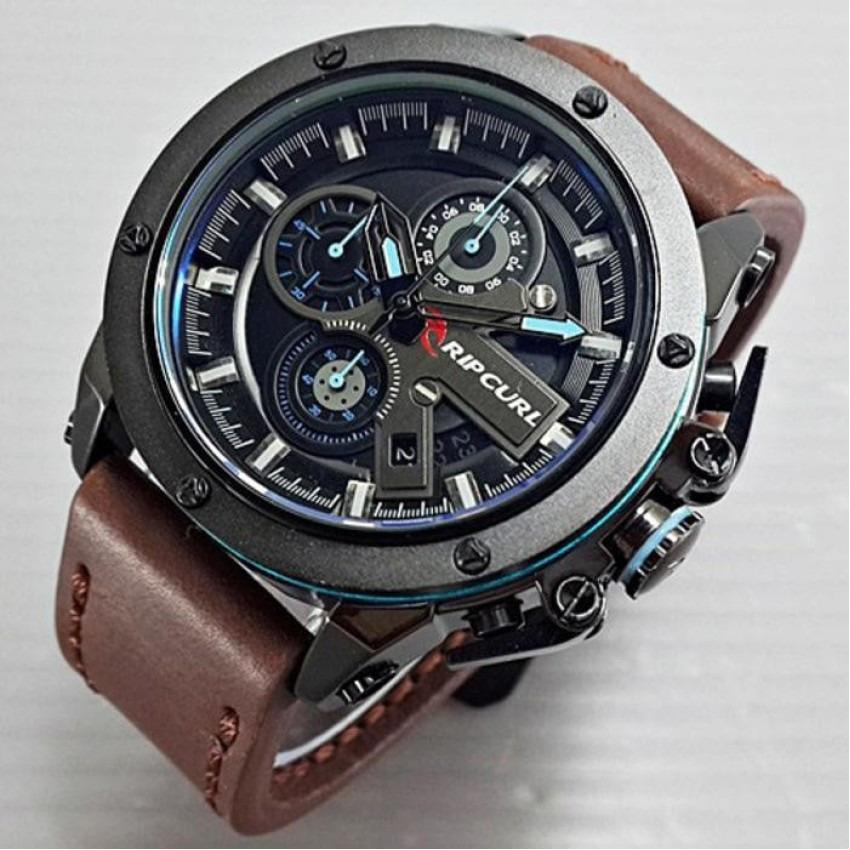 ORIGINAL - Jam Tangan Pria / Cowok Ripcurl Colorado Kulit Leather