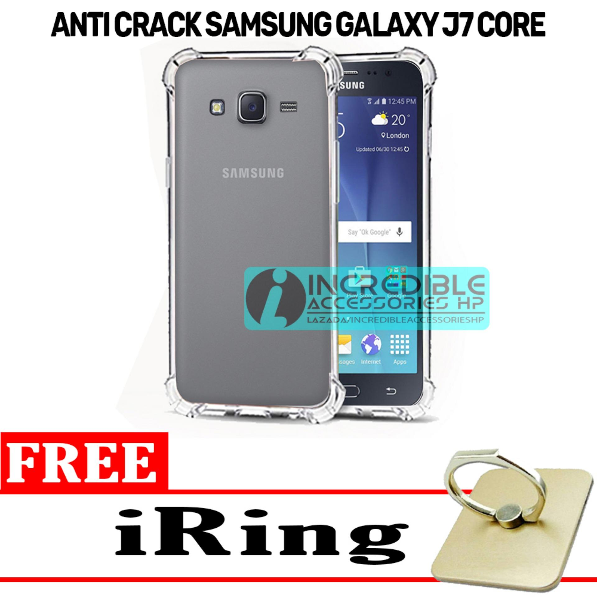 Case Anti Shock / Anti Crack Elegant Softcase for Samsung Galaxy J7 Core - White Clear