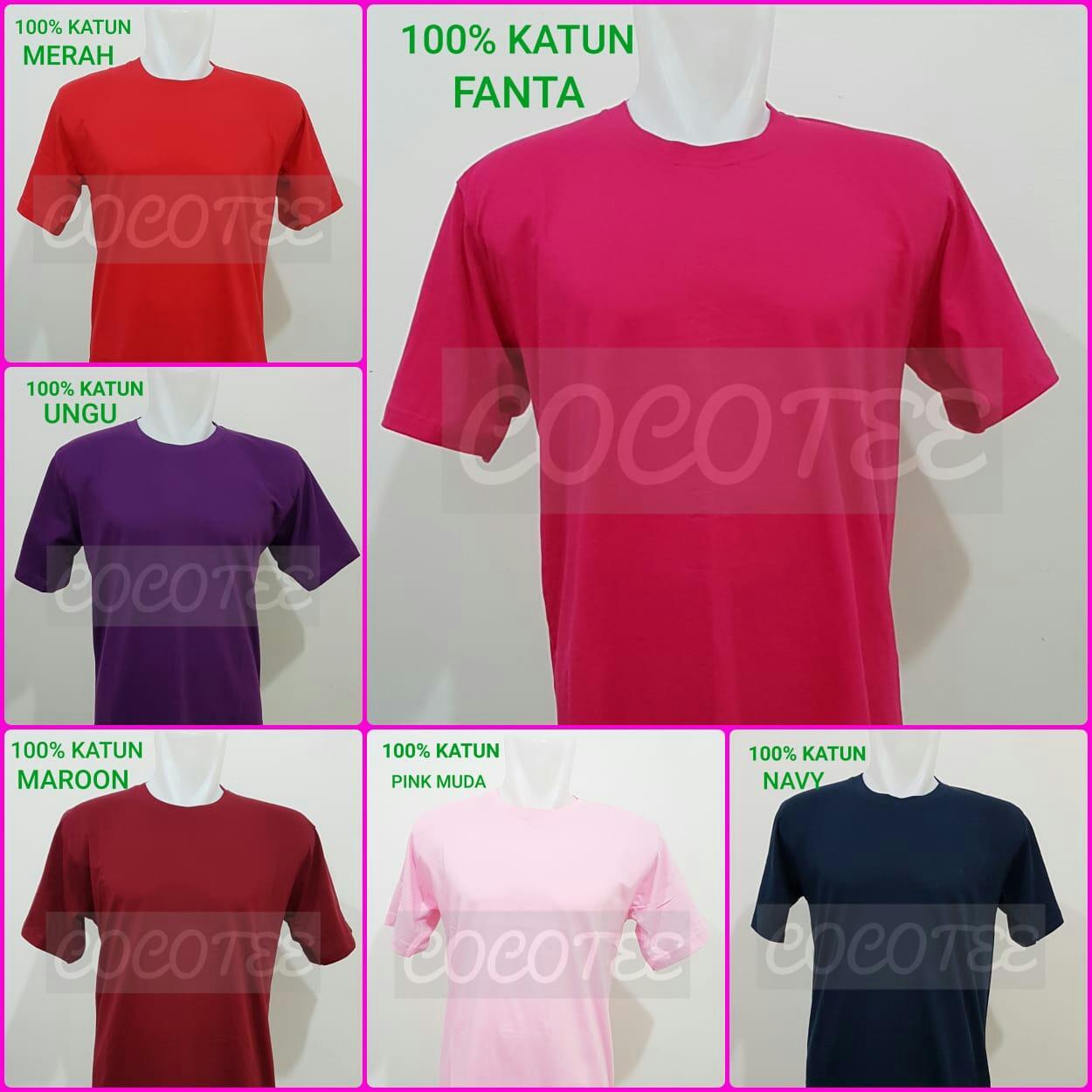 Detail Gambar Kaos Polos Big Size Katun Combed 30s Oneck Tangan Pendek 4XL Terbaru