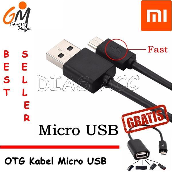 Xiaomi Micro USB Kabel Data Original + GRATIS Kabel OTG Micro USB