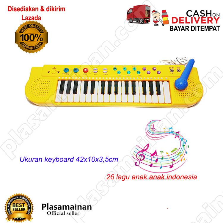 AA Toys Techno Karoke Keyboard T-2768 WARNA ACAK - Mainan Piano Karoke Lagu Indonesia / WARNA RANDOM - 2