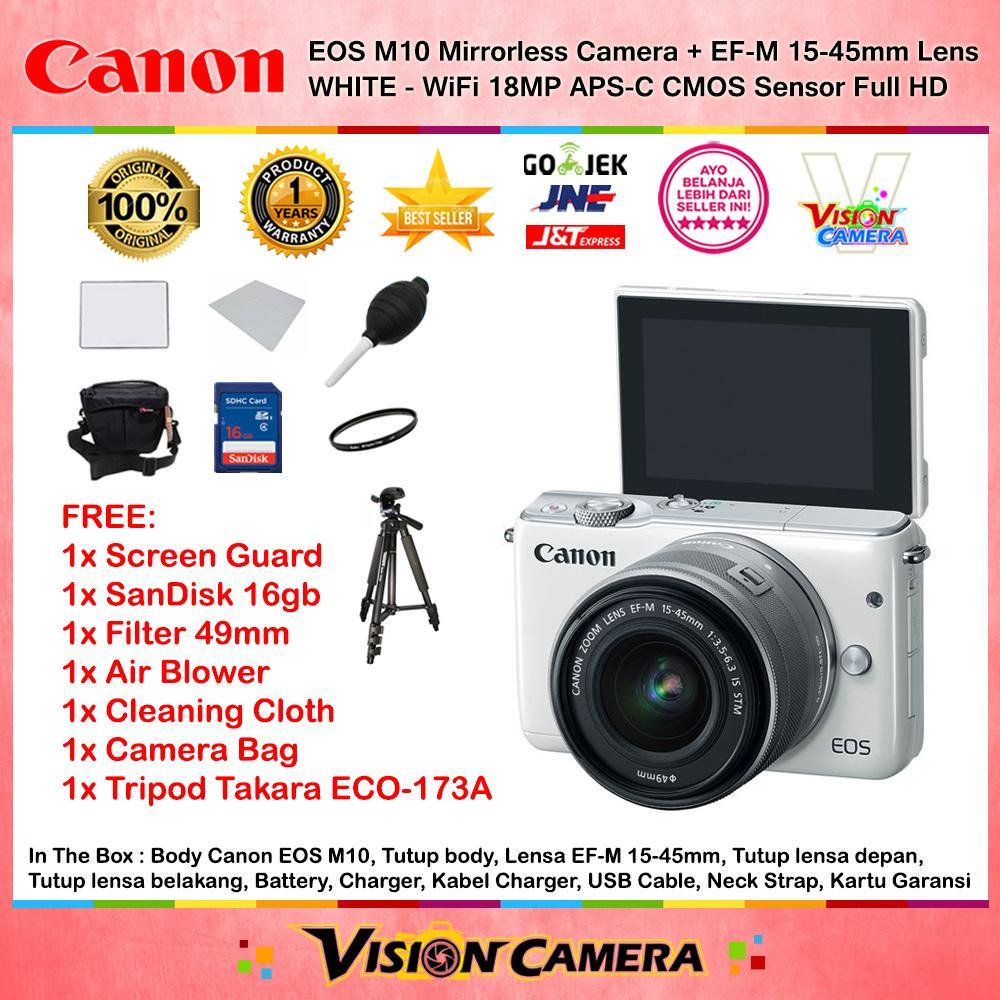 Cek Harga Baru Canon Eos M3 Ef M 15 45 Is Stm Kit Kamera Mirrorless M10 10 Camera Wifi 18mp Full