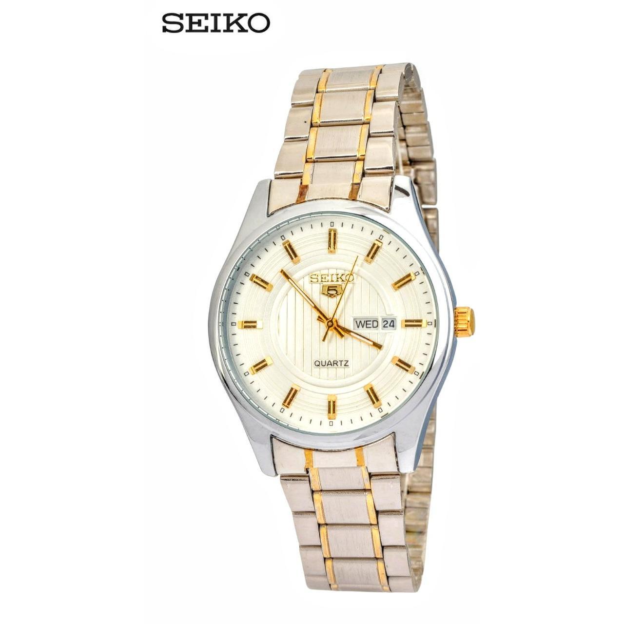SEIKO 5  - Jam Tangan Pria - Silver - Stainless Steel - 78NKNS