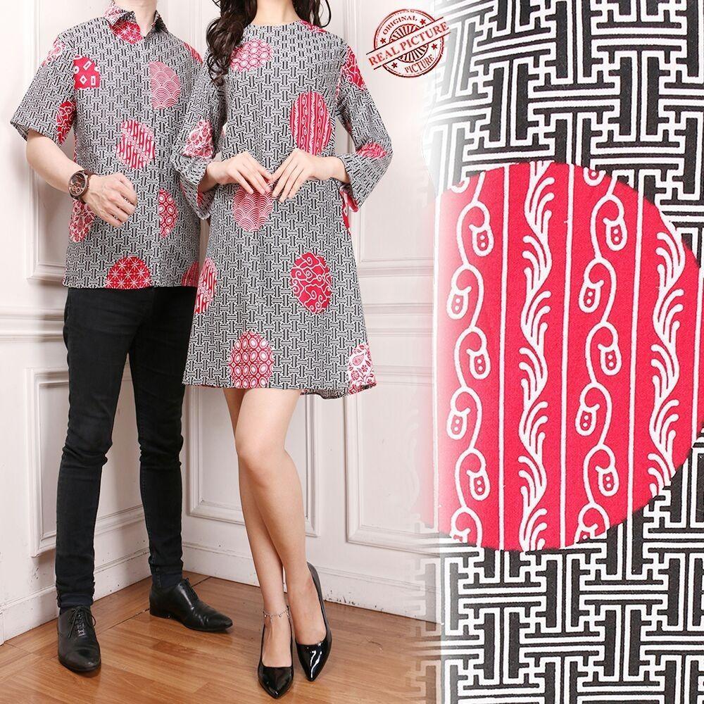 Sb Collection Couple Atasan Tunik Betha Blouse Dan Kemeja Batik Pria Asli