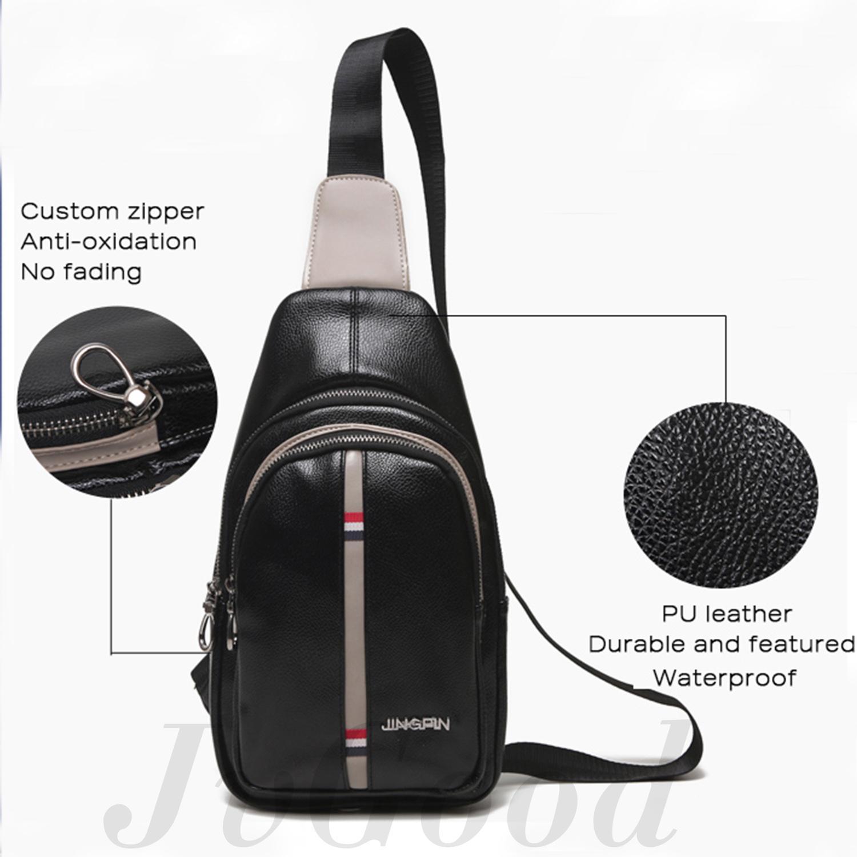 ... JvGood Tas Selempang Pria Messenger Bags Sling Bags Anti Thief Leather Sling  Bags - 5 f741ca087b
