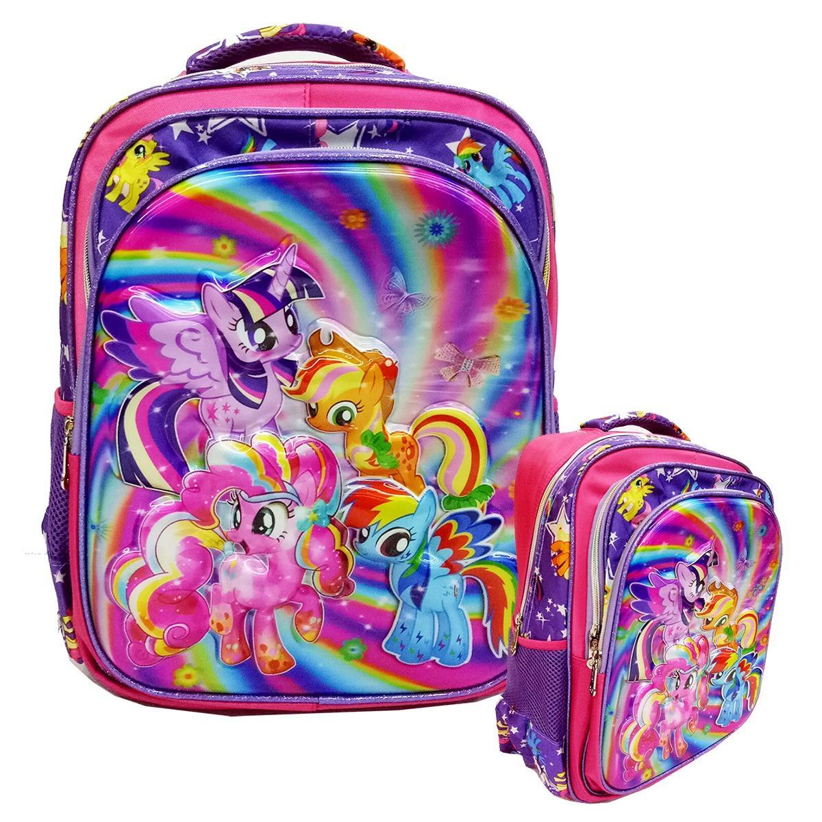 Harga Onlan My Little Pony 5D Hologram Tas Ransel Sd Ukuran 3 Kantung Besar Import Ungu Online