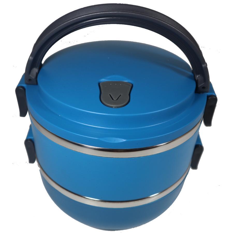 Rantang Bulat Polos 2 Susun Stainless Steel - Kotak Makan - Lunch Box