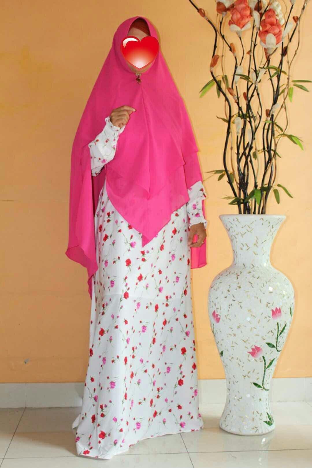 Adzra Gamis Murah syari /busana muslim wanita - Khirani Dress - Pink - 2