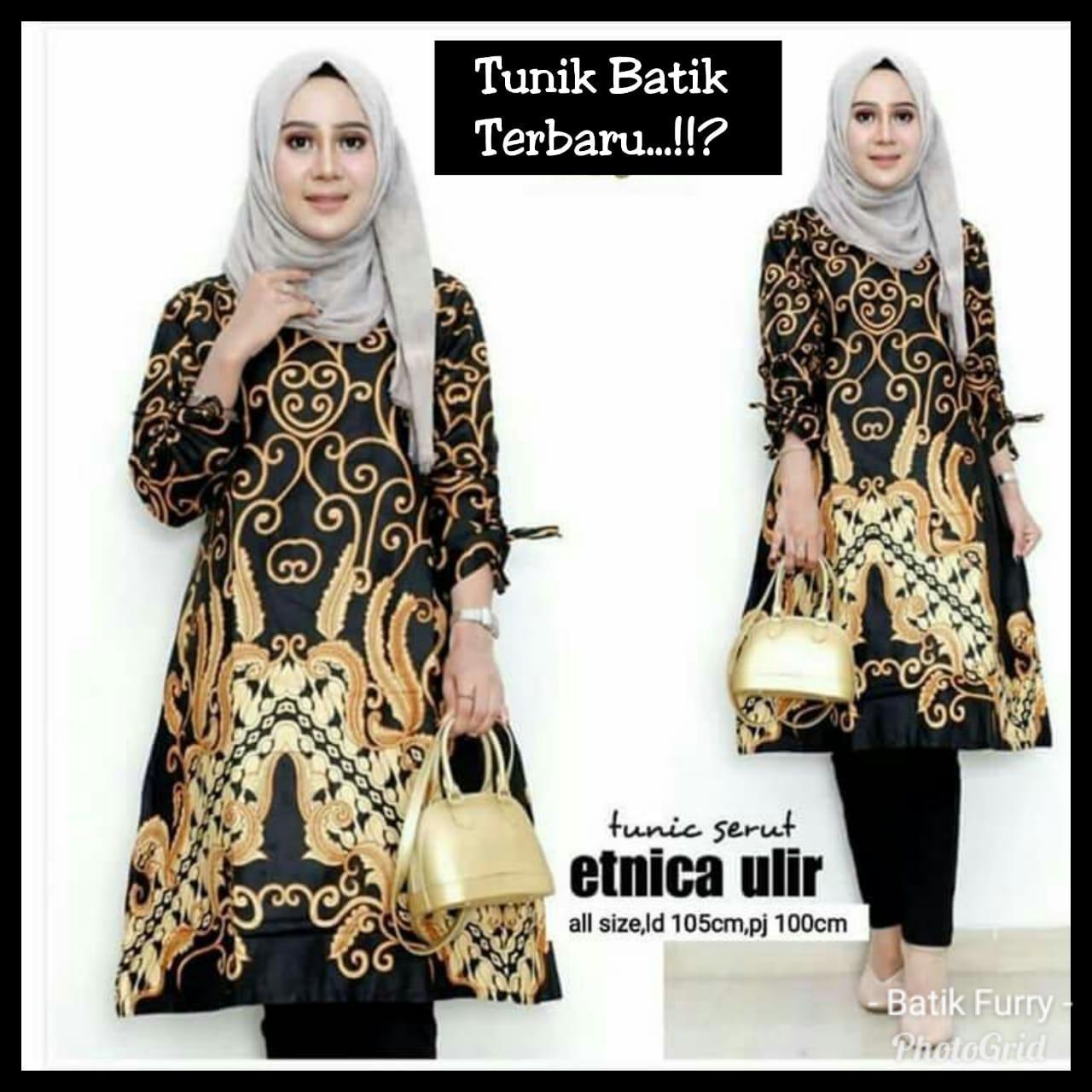 Dreess Batik Tunik Batik Modern Seragam Kantor