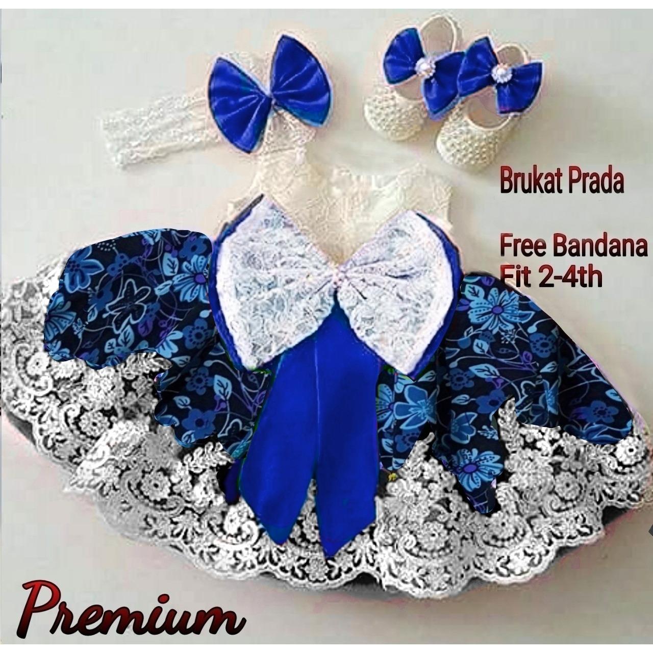 MJ Dress Anak Princess flow - Blue