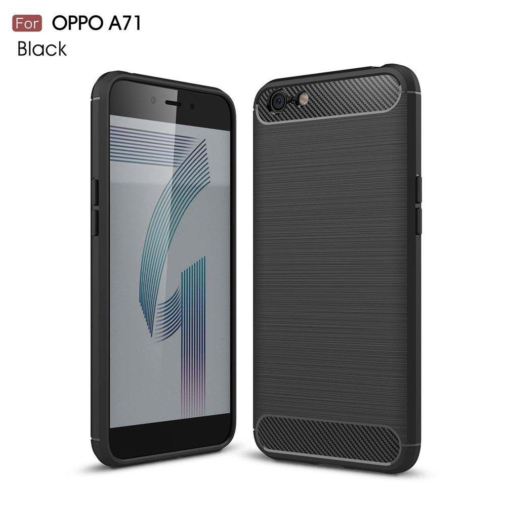Armor Carbon TPU Case Cover for Oppo A71 2018 - Hitam