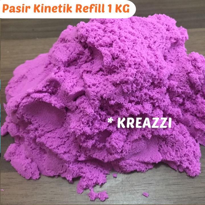 pasir kinetik refill 1 kg – ungu – magic kinetic play s/ pasir ajaib