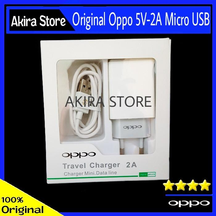 Charger Oppo F7 Original 100% Micro USB 5V-2A Resmi Indonesia