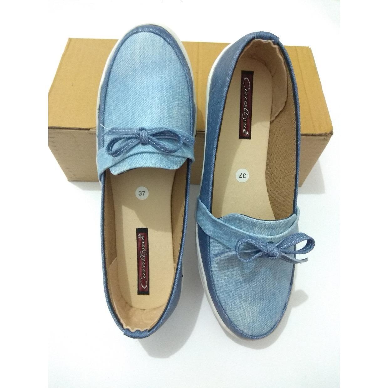 Sepatu Flat Wanita Terkini-Biru Dongker