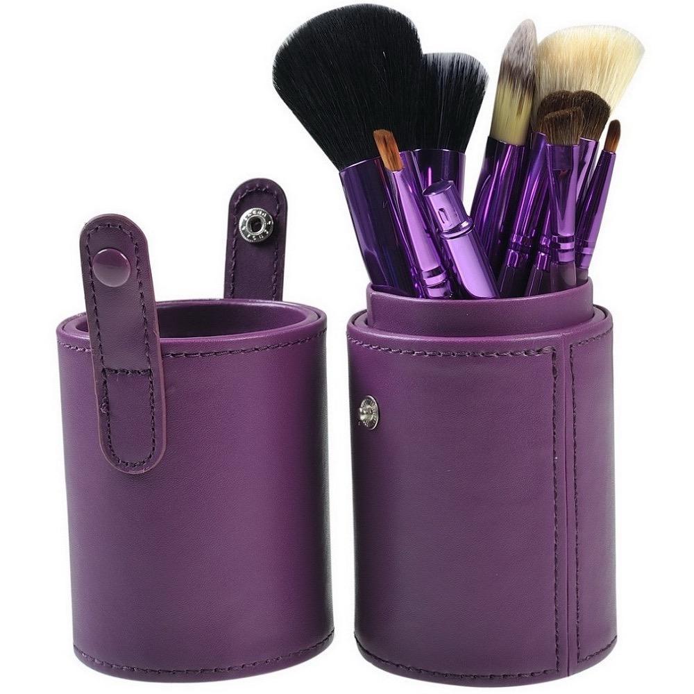 Skytop Kuas Make Up 12 Set dengan Case Brush Makeup Set Alat Kecantikan Wanita Brush Halus