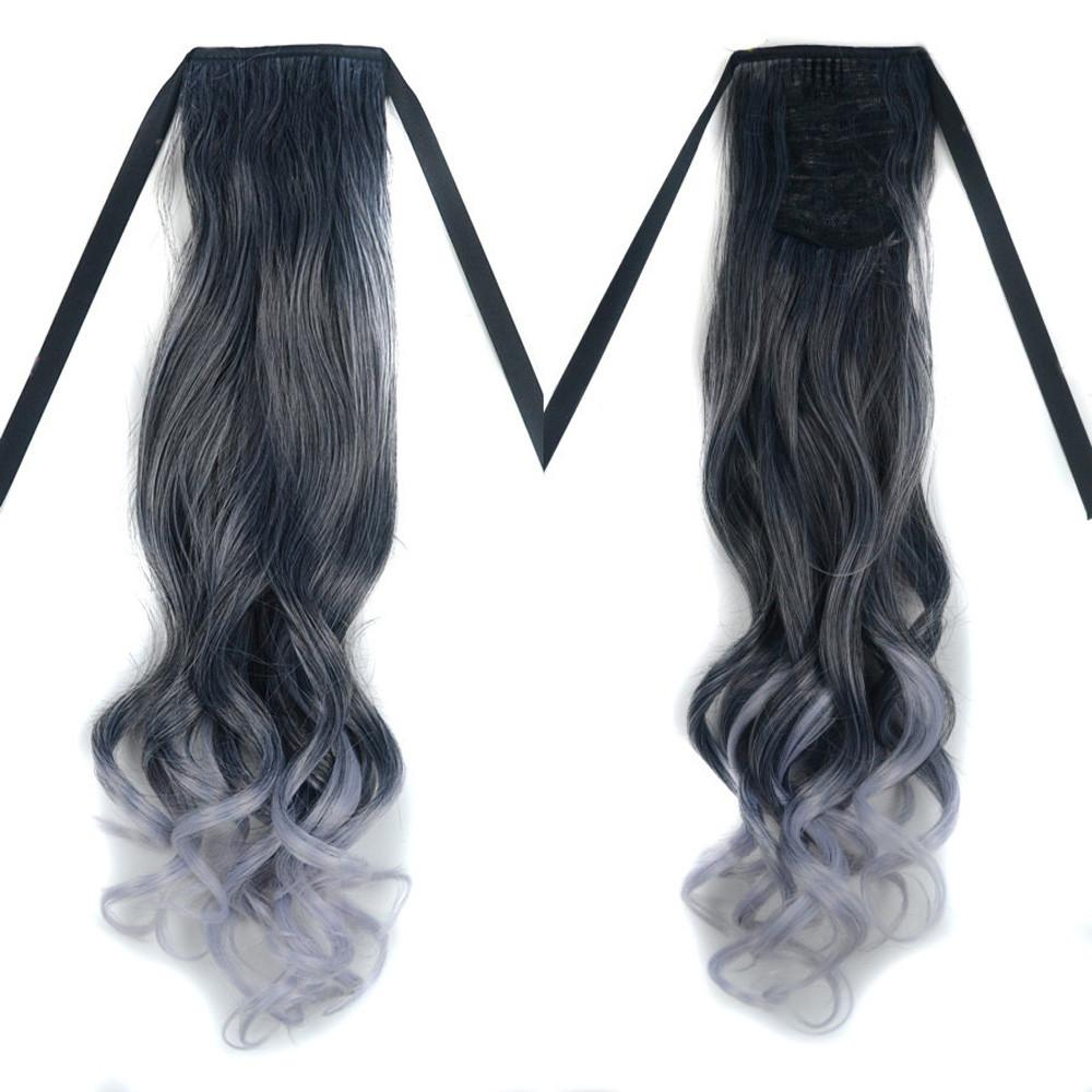 Jual Personalized Fashion Trends Grandma Gray Gradient Wig Curls Hair Intl Online Tiongkok