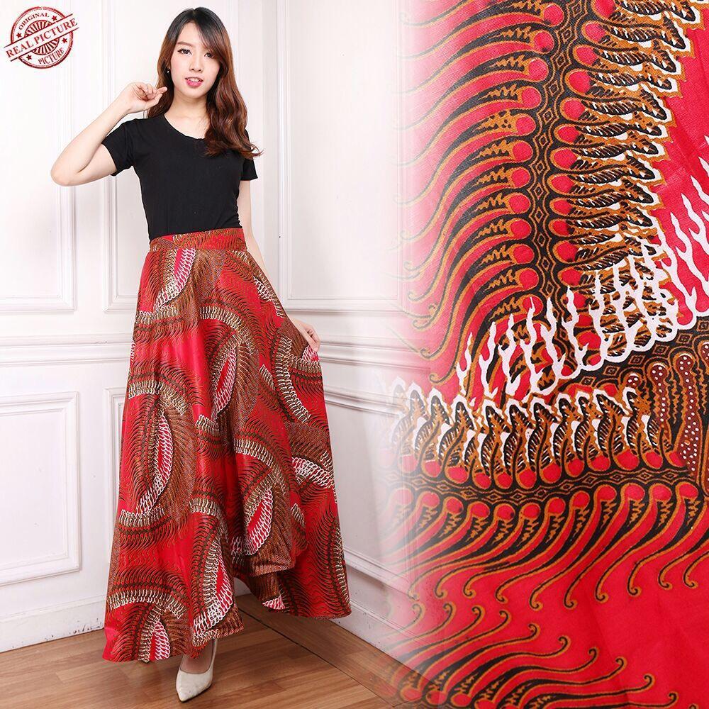 168 Collection Rok Lilit Maxi Payung Nuraini Rok Panjang Batik Wanita
