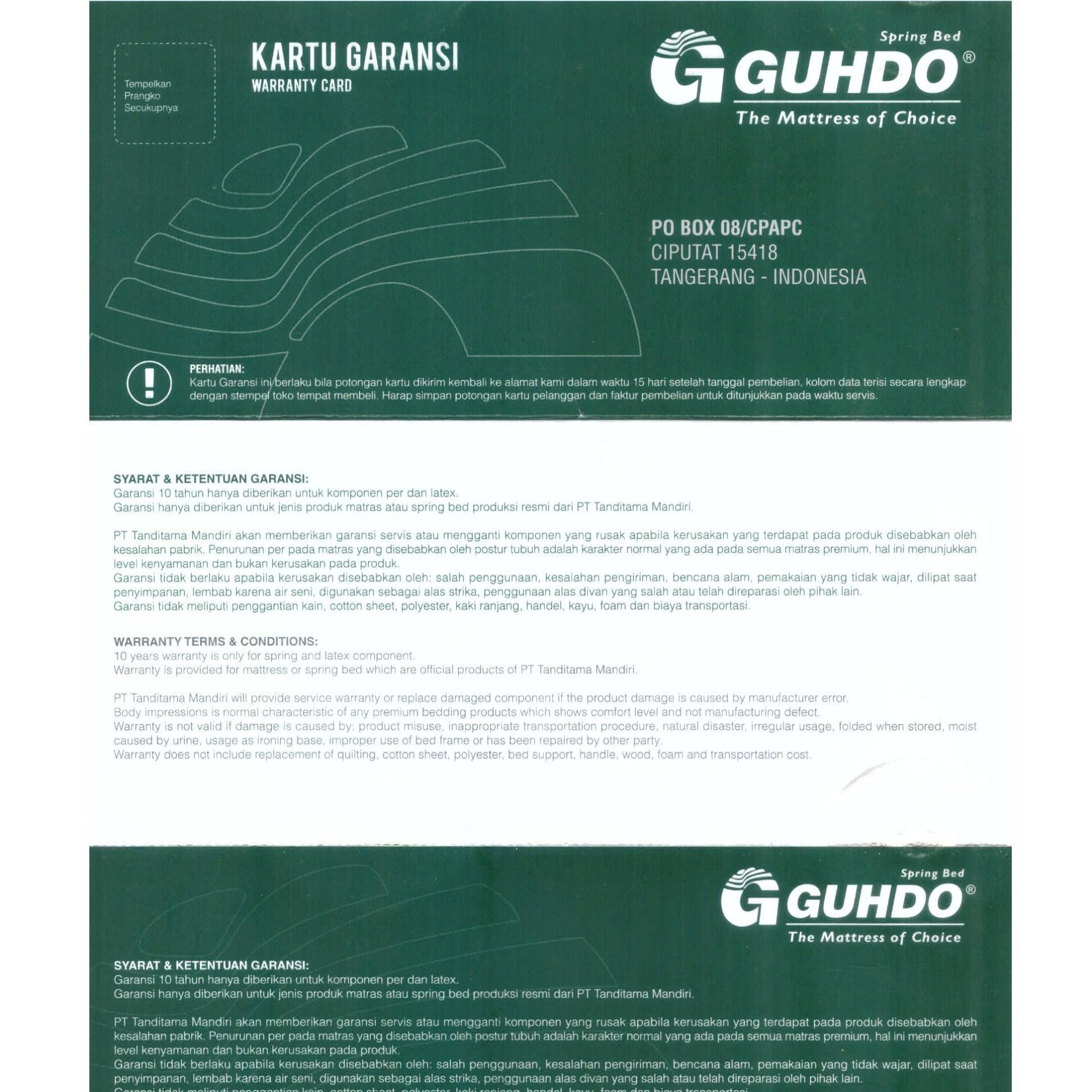 ... Guhdo New Prima Kasur Springbed Sorong Size 120 x 180 - Biru - Ranjang Sorong -