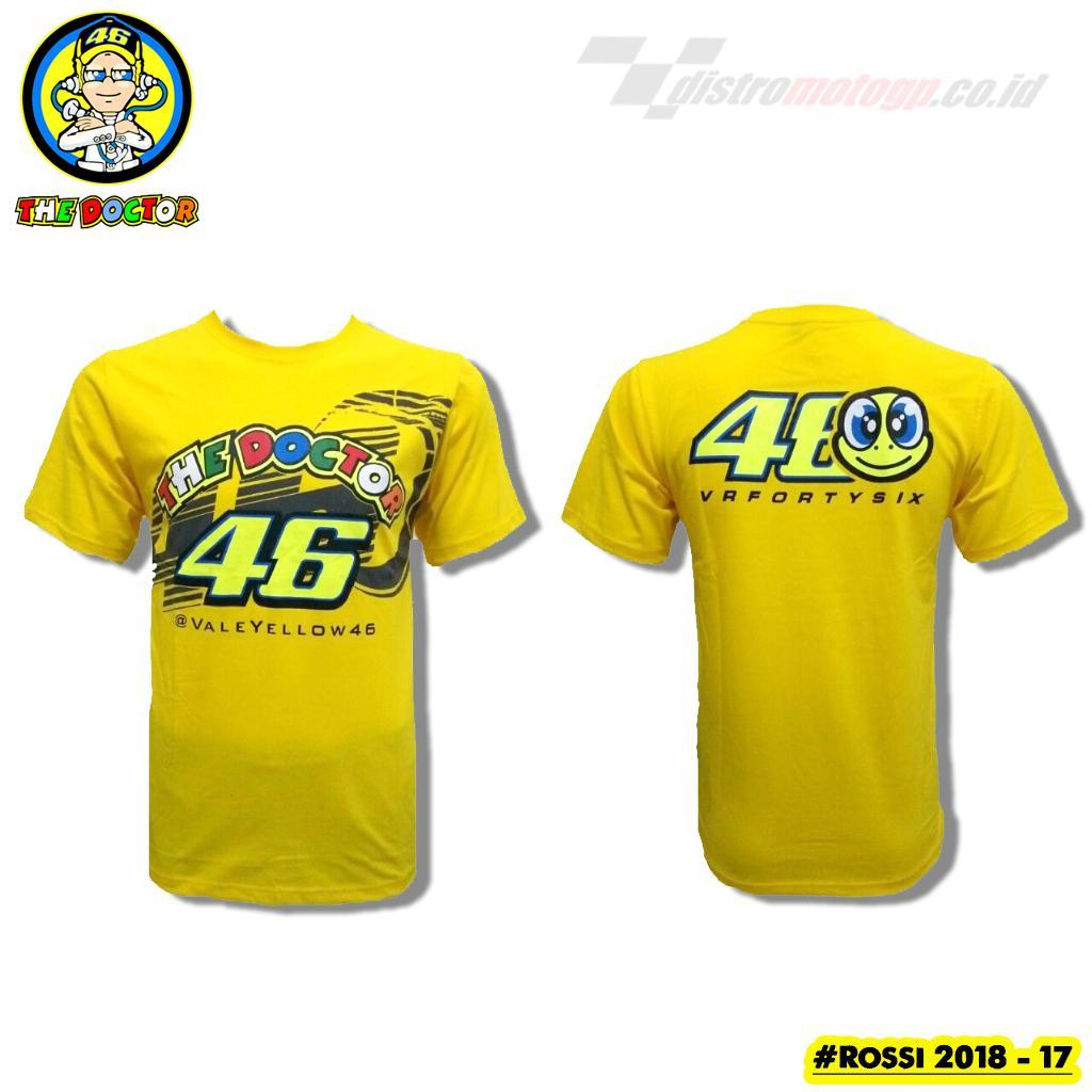Kaos Rossi The Doctor Kaos MotoGP Valentino Rossi VR46 Kaos Distro MotoGP  Rossi VR46 - 17 7411d45562
