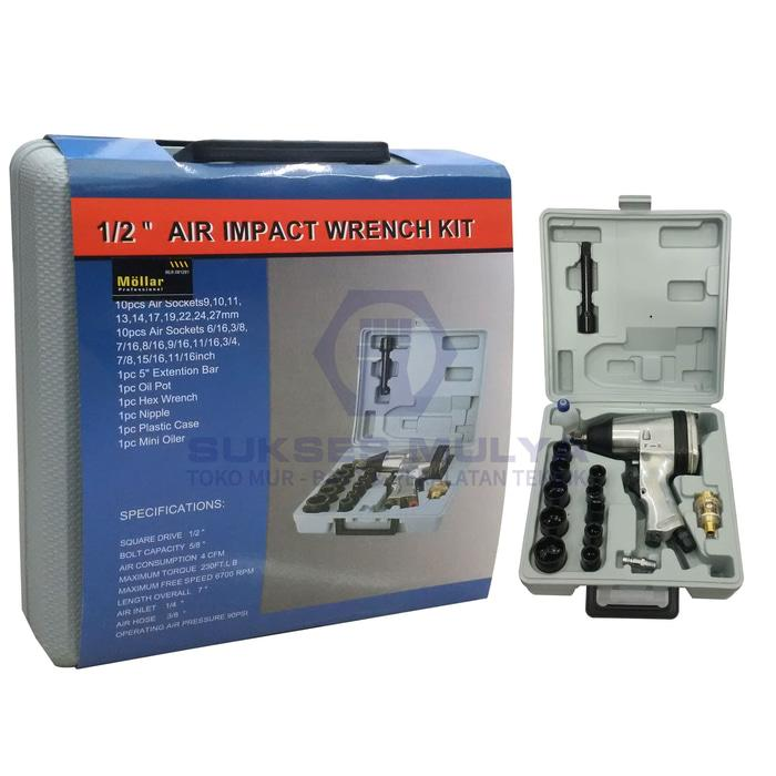 Mollar Air Impact Wrench Kit